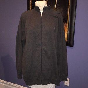 Polo full zip sweater
